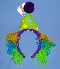 CLOWN HAT HEADBAND-COSTUME-WITH WIG-BIRTHDAY PARTIES-CIRCUS SHOWS-DRESS UP PLAY