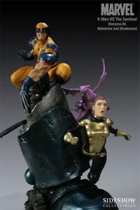 X-MEN vs SENTINEL Wolverine Polystone Diorama SIDESHOW!