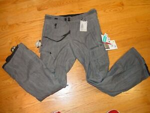 New Mens S 686 Smarty Slim Cargo Snow Pants Ski Snowboard Gunmetal Small $150