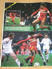 Football Poster Scifo Ceulemans Belgium v Polska world cup qualification 1986