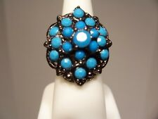 New, Bohemian Antique Style Ring,turquoise classic look