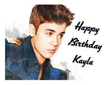 Justin Bieber edible party cake image cake topper sheet