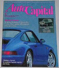 AUTOCAPITAL 8/1991 PORSCHE 911 CARRERA RS – MINI COOPER – FERRARI 512 SUNOCO