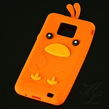 Samsung Galaxy S2 i9100 Silikon Case Schutz Hülle Etui Cover Chicken Orange