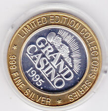 1995 Grand Casino Rearing Horses .999 Fine Silver Limited Edition Gaming Token
