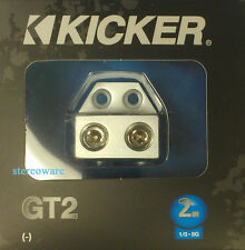 Kicker GT2 Terminal Distribution Block  with Two 1/0-8 Gauge Inputs NEW