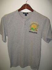 Oregon Brewers Festival Portland USA 2009 Beer Server Button Jersey T Shirt Med