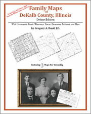 Family Maps DeKalb County Illinois Genealogy IL Plat