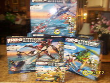 NIB Kre-o Battleship Land Defense-Ocean Attack-Chopper-Alien Strike-Air Assault