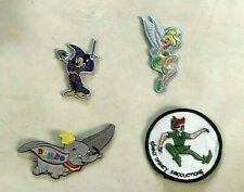 Disney set of 4 patches Mickey Mouse ,Dumbo ,Tinker Bell, Peter Pan   BX