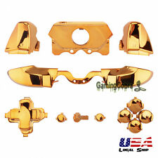 Chrome Gold Full Set Buttons Kit for Xbox One Controller 3.5 mm Jack Elite