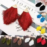 7 Colours Long Tassel Earrings Dangle Long Tassle Fringe Trendy Chunky Jewelry