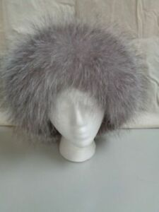 BRAND NEW SILVER FOX & BLACK LEATHER TOP FUR HAT CAP WOMEN WOMAN SIZE ALL