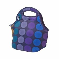 Built NY Gourmet To Go Neoprene Lunch Tote, Large, Reusable, Insulated, Plum Dot