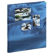Large Self Adhesive Blue Water Fall Photo Album Case Book 20 Pages 6x4 '' Photos