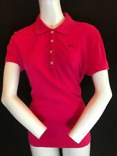 BNWT LACOSTE Ladies Vintage Washed Pink Cotton Polo Shirt UK 18 RRP £70 Gift Ide