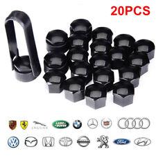 20 X Wheel Nut Caps Bolt Covers Audi VW Vauxhall Bmw Mercedes Renault 17mm Black