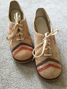 Vintage 1970s Women's Northern Soul Glam Rock Suede Shoes.Bowie TRex UK 5.5