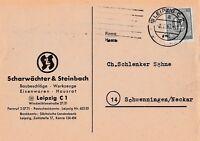 Postkarte verschickt von Leipzig nach Schwenningen aus dem Jahr 1947