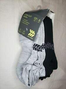 Womens Low Cut Socks 6 Pack Size 8-12 Arch Support Reinforced Ventilating Mesh