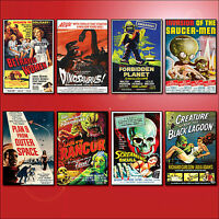 Classic B Movie Film Poster Fridge Magnets Set of 8 large fridge magnets No.2