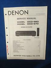 DENON DCD-980 DCD-970 CD SERVICE MANUAL ORIGINAL FACTORY ISSUE GOOD CONDITION