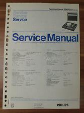 Plattenspieler 22GF251 Gramophon Philips Service Manual Serviceanleitung