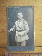 PHOTO ANCIENNE WW 1 N°3 Portrait militaire GROSSINE PARIS
