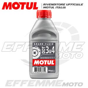 Olio Liquido freni MOTUL DOT 3&4 100% Sintetico 500 ml per Moto, scooter, Quad