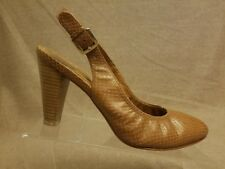 Cole Haan Women Shoes Brown Snake Print Slingbacks Pumps High Heels Size 10 B