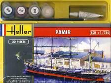 Heller Pamir Viermastbark Four Master + Colour Paintbrush Adhesive Model Kit 1: