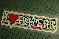 I LOVE HATERS SB Sticker Decal Vinyl JDM Drift Euro Lowered illest Fatlace