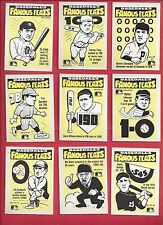 1986 FLEER BASEBALL FAMOUS FEATS COMPLETE SET 22 CARDS RANDOM LOGO ON FRONT