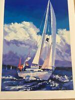 "Alex Pauker Artist Signed Limited Edition Serigraph:""High Winds"" EA 35/90"