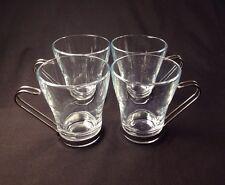 Glass Espresso Cups X 4, Vitrosax, Made In Italy. Ultra Modern