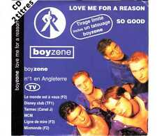 Boyzone - Love Me For A Reason - CDS - 1994 - Pop 2TR Cardsleeve France So Good