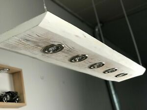 Holz  LED Lampe Lärche weiß geflammt Smart Home