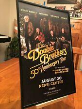 "BIG 11x17 FRAMED DOOBIE BROTHERS LIVE IN DENVER ""50th ANNIVERSARY TOUR"" POSTER"