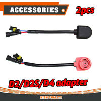 2x D2S D2R HID Xenon Bulb Harness Connector Cable Wire Socket Adaptor lU