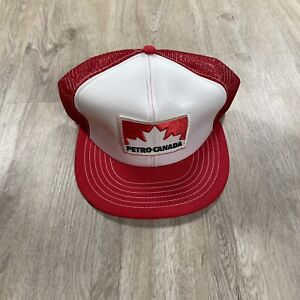Vintage Promo Wear Petro Canada Snapback Hat NEW Red White Cap Made In Canada