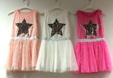 Kids Girls Summer Tunic Tutu Dress Casual Party Sundress Star Sequin Top 3-13 Y