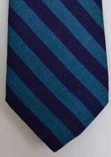 """Kiton Napoli Mens 7 Fold Handmade Wool Stripe Tie NEW 59"""" X 3.5"""" SKU B32/65 $350"""