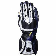 Knox Handroid MK IV 2019 Leather Motorcycle Motorbike Gloves - Blue/White