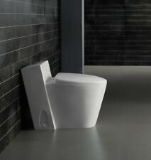 One Piece Toilet - Modern Bathroom Toilet - Dual Flush Toilet -Monte Carlo 27.6""