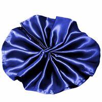 Package of 5 Satin Napkins - Navy Blue ~Wedding Party Holiday Dinner Catering~