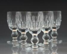 "Set of 5 Aviemore Signed Waterford Crystal Cordial Glasses 3 1/4"" High"