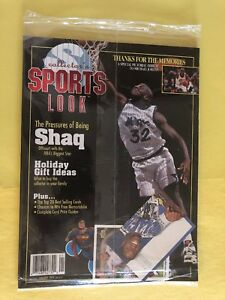 COLLECTOR'S SPORTS LOOK MAGAZINE 1994 , SHAQ. O'NEAL + 2 Trading Cards. NM