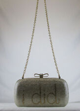 INC INTERNATIONAL CONCEPTS EVIE I DO I DID Gold Clutch Shoulder Bag Msrp $80.00