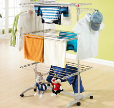 6 Tiers Clothes Horse Foldable Air Stainless Laundry Hanger Hanging Drying Rack