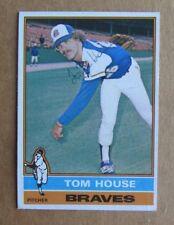 1976 TOPPS BASEBALL TOM HOUSE #231 AUTOGRAPHED SIGNED CARD ATLANTA BRAVES